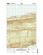 Delaware Michigan Current topographic map, 1:24000 scale, 7.5 X 7.5 Minute, Year 2017 from Michigan Map Store