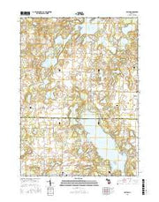 Delton Michigan Current topographic map, 1:24000 scale, 7.5 X 7.5 Minute, Year 2016 from Michigan Maps Store