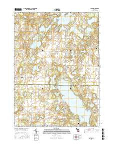 Delton Michigan Current topographic map, 1:24000 scale, 7.5 X 7.5 Minute, Year 2016