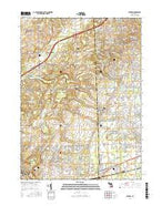 Denton Michigan Current topographic map, 1:24000 scale, 7.5 X 7.5 Minute, Year 2017 from Michigan Map Store