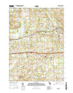 Dexter Michigan Current topographic map, 1:24000 scale, 7.5 X 7.5 Minute, Year 2017 from Michigan Map Store