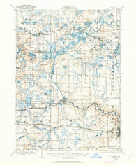 Dexter Michigan Historical topographic map, 1:62500 scale, 15 X 15 Minute, Year 1902
