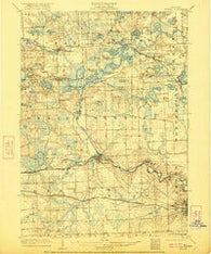 Dexter Michigan Historical topographic map, 1:62500 scale, 15 X 15 Minute, Year 1906