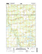 Driggs Lake SE Michigan Current topographic map, 1:24000 scale, 7.5 X 7.5 Minute, Year 2017 from Michigan Map Store