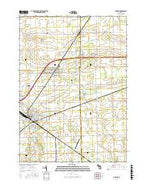 Durand Michigan Current topographic map, 1:24000 scale, 7.5 X 7.5 Minute, Year 2017 from Michigan Map Store