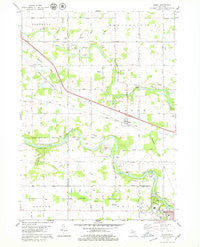 Eagle Michigan Historical topographic map, 1:24000 scale, 7.5 X 7.5 Minute, Year 1978