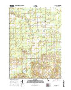 East Dayton Michigan Current topographic map, 1:24000 scale, 7.5 X 7.5 Minute, Year 2016