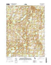 East Leroy Michigan Current topographic map, 1:24000 scale, 7.5 X 7.5 Minute, Year 2016 from Michigan Maps Store