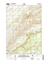 Ellington Michigan Current topographic map, 1:24000 scale, 7.5 X 7.5 Minute, Year 2016