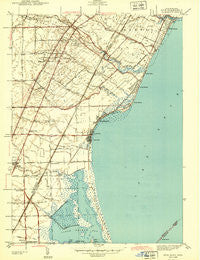 Erie Michigan Historical topographic map, 1:31680 scale, 7.5 X 7.5 Minute, Year 1943