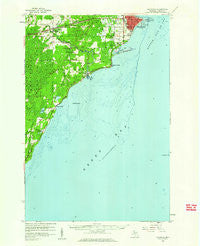Escanaba Michigan Historical topographic map, 1:62500 scale, 15 X 15 Minute, Year 1958