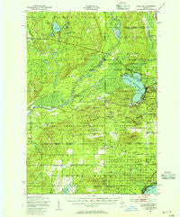 Fletcher Michigan Historical topographic map, 1:62500 scale, 15 X 15 Minute, Year 1949