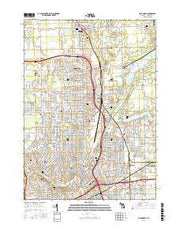 Flint North Michigan Current topographic map, 1:24000 scale, 7.5 X 7.5 Minute, Year 2017 from Michigan Maps Store