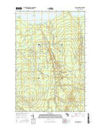 Four Corners Michigan Current topographic map, 1:24000 scale, 7.5 X 7.5 Minute, Year 2017 from Michigan Map Store