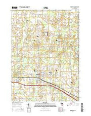Fowlerville Michigan Current topographic map, 1:24000 scale, 7.5 X 7.5 Minute, Year 2017 from Michigan Maps Store