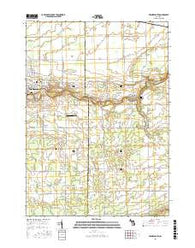 Frankenmuth Michigan Current topographic map, 1:24000 scale, 7.5 X 7.5 Minute, Year 2016