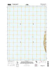 Frankfort OE W Michigan Current topographic map, 1:24000 scale, 7.5 X 7.5 Minute, Year 2017 from Michigan Maps Store