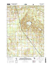 Free Soil Michigan Current topographic map, 1:24000 scale, 7.5 X 7.5 Minute, Year 2017 from Michigan Maps Store