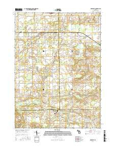 Freeport Michigan Current topographic map, 1:24000 scale, 7.5 X 7.5 Minute, Year 2016