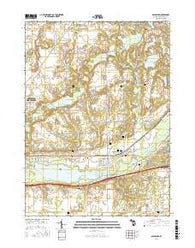 Galesburg Michigan Current topographic map, 1:24000 scale, 7.5 X 7.5 Minute, Year 2016