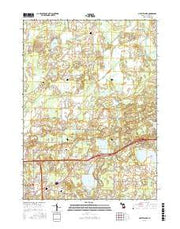 Gilletts Lake Michigan Current topographic map, 1:24000 scale, 7.5 X 7.5 Minute, Year 2017 from Michigan Maps Store