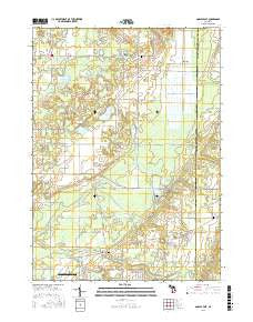 Gobles East Michigan Current topographic map, 1:24000 scale, 7.5 X 7.5 Minute, Year 2016