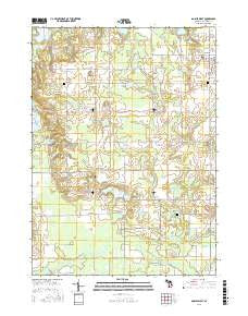 Gobles West Michigan Current topographic map, 1:24000 scale, 7.5 X 7.5 Minute, Year 2016