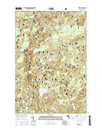 Gogebic Michigan Current topographic map, 1:24000 scale, 7.5 X 7.5 Minute, Year 2017 from Michigan Map Store