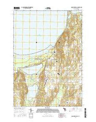 Good Harbor Bay Michigan Current topographic map, 1:24000 scale, 7.5 X 7.5 Minute, Year 2016