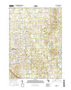 Goodrich Michigan Current topographic map, 1:24000 scale, 7.5 X 7.5 Minute, Year 2017 from Michigan Map Store