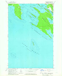 Goose Island Michigan Historical topographic map, 1:24000 scale, 7.5 X 7.5 Minute, Year 1964
