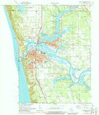 Grand Haven Michigan Historical topographic map, 1:24000 scale, 7.5 X 7.5 Minute, Year 1972