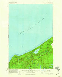 Grand Portal Point Michigan Historical topographic map, 1:62500 scale, 15 X 15 Minute, Year 1958