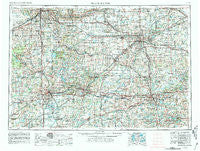 Grand Rapids Michigan Historical topographic map, 1:250000 scale, 1 X 2 Degree, Year 1958