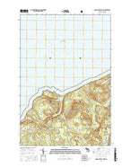 Grand Portal Point Michigan Current topographic map, 1:24000 scale, 7.5 X 7.5 Minute, Year 2017 from Michigan Map Store