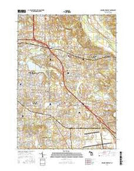 Grand Rapids East Michigan Current topographic map, 1:24000 scale, 7.5 X 7.5 Minute, Year 2016