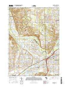 Grandville Michigan Current topographic map, 1:24000 scale, 7.5 X 7.5 Minute, Year 2016