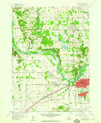 Grandville Michigan Historical topographic map, 1:24000 scale, 7.5 X 7.5 Minute, Year 1958