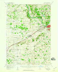 Grandville Michigan Historical topographic map, 1:62500 scale, 15 X 15 Minute, Year 1958