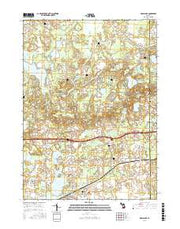 Grass Lake Michigan Current topographic map, 1:24000 scale, 7.5 X 7.5 Minute, Year 2017 from Michigan Maps Store