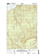 Graveraet River Michigan Current topographic map, 1:24000 scale, 7.5 X 7.5 Minute, Year 2017 from Michigan Map Store