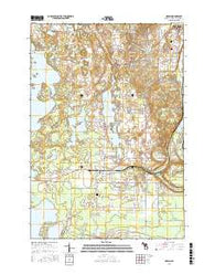 Grawn Michigan Current topographic map, 1:24000 scale, 7.5 X 7.5 Minute, Year 2016
