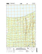 Green Michigan Current topographic map, 1:24000 scale, 7.5 X 7.5 Minute, Year 2017 from Michigan Map Store
