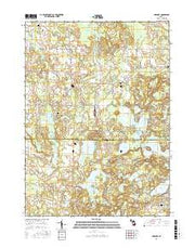 Gregory Michigan Current topographic map, 1:24000 scale, 7.5 X 7.5 Minute, Year 2017 from Michigan Maps Store