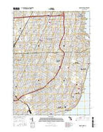 Grosse Pointe Michigan Current topographic map, 1:24000 scale, 7.5 X 7.5 Minute, Year 2017 from Michigan Map Store