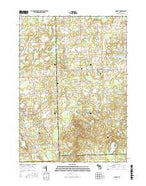Hadley Michigan Current topographic map, 1:24000 scale, 7.5 X 7.5 Minute, Year 2017 from Michigan Map Store