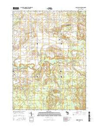 Hamilton East Michigan Current topographic map, 1:24000 scale, 7.5 X 7.5 Minute, Year 2016