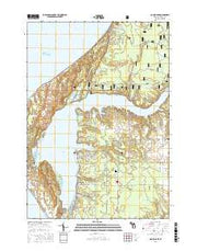 Hamlin Lake Michigan Current topographic map, 1:24000 scale, 7.5 X 7.5 Minute, Year 2017 from Michigan Maps Store
