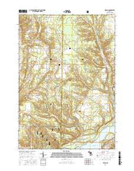 Harlan Michigan Current topographic map, 1:24000 scale, 7.5 X 7.5 Minute, Year 2016