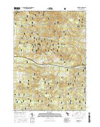 Harrietta Michigan Current topographic map, 1:24000 scale, 7.5 X 7.5 Minute, Year 2016